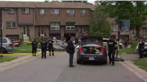 Police respond to a shooting in the McLevin Avenue and Empringham Drive area in Scarborough Sunday July 23, 2017.