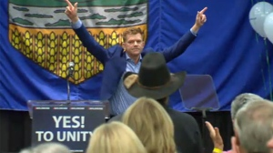Brian Jean celebrates results of unification vote