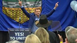 Brian Jean celebrates results of unification vote