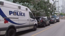 Large police presence in Yaletown