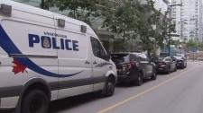 Large police presence in Yaletown