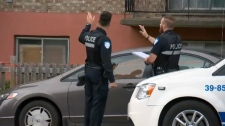Montreal, police, pregnant woman, stabbing