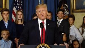 President Trump addresses healthcare debate