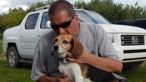 Robert Carignan and his dog, Molly (Facebook)