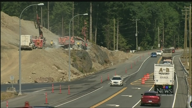 Drivers irked by rush-hour Malahat construction