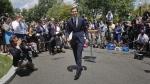 Jared Kushner walks away from the podium outside the White House in Washington, on July 24, 2017. (AP / Pablo Martinez Monsivais)