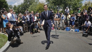 Jared Kushner walks away from the podium outside the White House in Washington, on July 24, 2017. (AP / Pablo Martinez Monsivais)