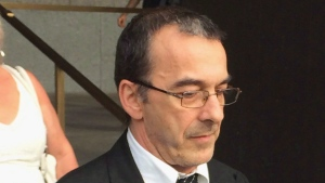 A preliminary hearing is scheduled to begin today for a Montreal man charged with murdering his wife in a suspected compassion killing. Michel Cadotte, who was charged in February with second-degree murder of his wife, Jocelyne Lizotte, is shown at the court house in Montreal on Friday, July 7, 2017. THE CANADIAN PRESS/Giuseppe Valiante