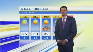 Mostly sunny for Tuesday in Calgary