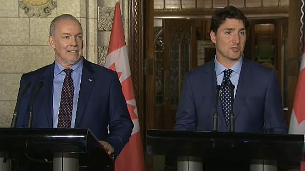 John Horgan and Justin Trudeau