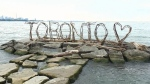 New wooden Toronto sign pops up on Lake Ontario