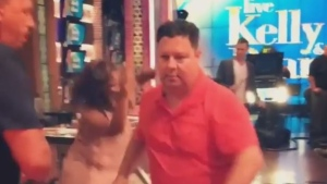 Tony Marinaro busts a move (and possibly a hip) while dancing on LIVE with Kelly and Ryan.