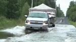 Record rainfall and flooded roads