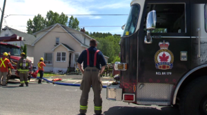 Firefighters were called to the scene in the afternoon.