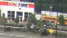 Surveillance video shows the parking lot of a Kal Tire in Chilliwack on Friday, July 21, 2017. (IHIT)