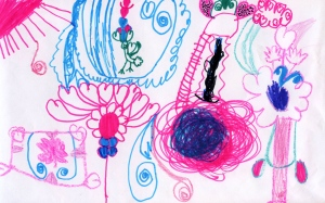 Weather art by Eliana, age 5, from Lord Roberts School Annex.