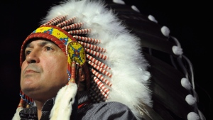Assembly of First Nations National Chief Perry Bellegarde speaks during the opening of the Assembly of First Nations annual general meeting in Regina, Sask., Tuesday July 25, 2017. (Mark Taylor/The Canadian Press)