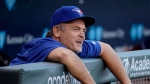 Toronto Blue Jays manager John Gibbons watches from the dugout before the team's baseball game against the Kansas City Royals on Friday, June 23, 2017, in Kansas City, Mo. Blue Jays general manager Ross Atkins may be looking to next season but manager John Gibbons is still focused on 2017. THE CANADIAN PRESS/AP, Charlie Riedel