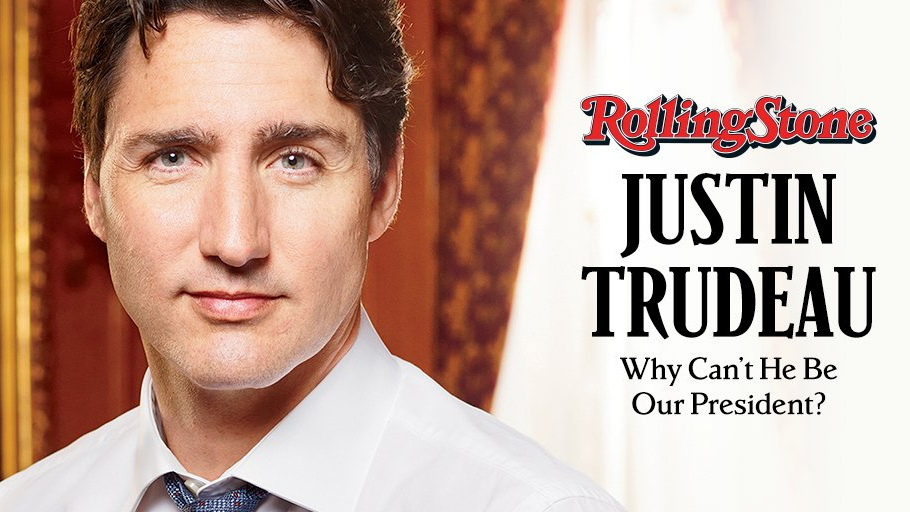 Prime Minister Justin Trudeau appears on the cover of Rolling Stone magazine. (@RollingStone / Twitter)
