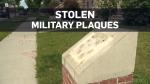 Stolen military plaques