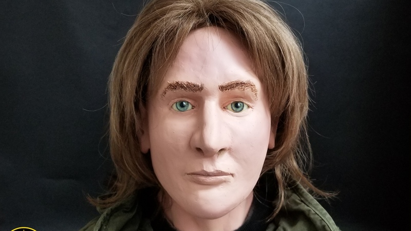 Police released a clay facial reconstruction in the hopes of identifying human remains first recovered in Algonquin Park in 1980. (Courtesy OPP)
