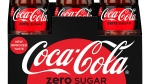 This photo provided by Coca-Cola shows a six-pack of bottled Coca-Cola Zero Sugar. Coke Zero is getting a makeover as Coke Zero Sugar in the United States. (Rodger Macuch/Courtesy of Coca-Cola via AP)