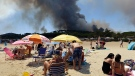 CTV News Channel: Fleeing fires in southern France