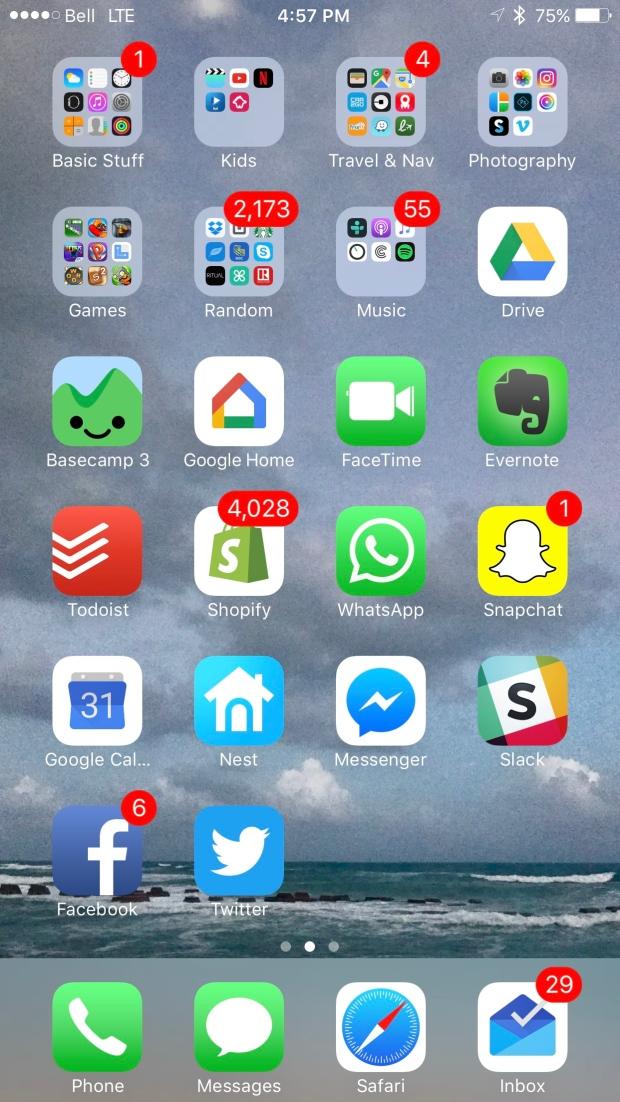 Phone Organization Home Screen Folders