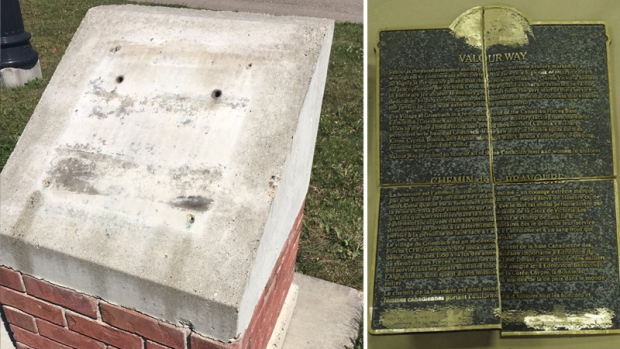 Edmonton police recover stolen historical plaques sold for scrap, badly damaged