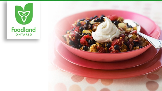 Ontario Mixed Berry Almond Crisp