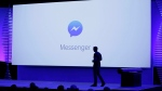 In this Tuesday, April 12, 2016, file photo, new features of Messenger are displayed during the keynote address at the F8 Facebook Developer Conference in San Francisco. (AP Photo/Eric Risberg, File)