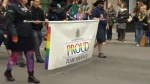 The Calgary Police Service entry in the 2016 Calgary Pride Parade