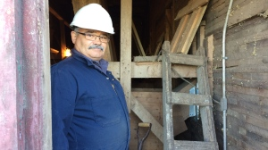 George Payette maintains 103 grain elevators across Manitoba and into Saskatchewan and he's not aware of anyone else who can do what he does. (Source: Josh Crabb/CTV Winnipeg)