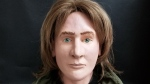 This image, released by the Ontario Provincial Police, show a 3D reconstruction of the face of a man whose body was found in Ontario's Algonquin Park in 1980. Investigators hope the clay model will lead to new information on the decades-old cold case. (Source: OPP)