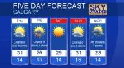 Calgary forecast July 26, 2017