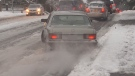 In addition to freeing up funds in case of weather-related emergencies, the report suggests the city issue tickets to drivers who aren't using winter tires in poor conditions.