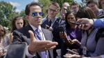White House communications director Anthony Scaramucci speaks to members of the media at the White House in Washington, on July 25, 2017. (Pablo Martinez Monsivais / AP)