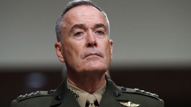 Joint Chiefs Chairman Gen. Joseph Dunford on Capitol Hill in Washington, on June 13, 2017. (Jacquelyn Martin / AP)