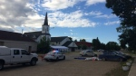 RCMP said an 18-year-old man was murdered at the corner of Centre Street and 2nd Avenue on Tuesday. (Source: Beth Macdonell/CTV Winnipeg)