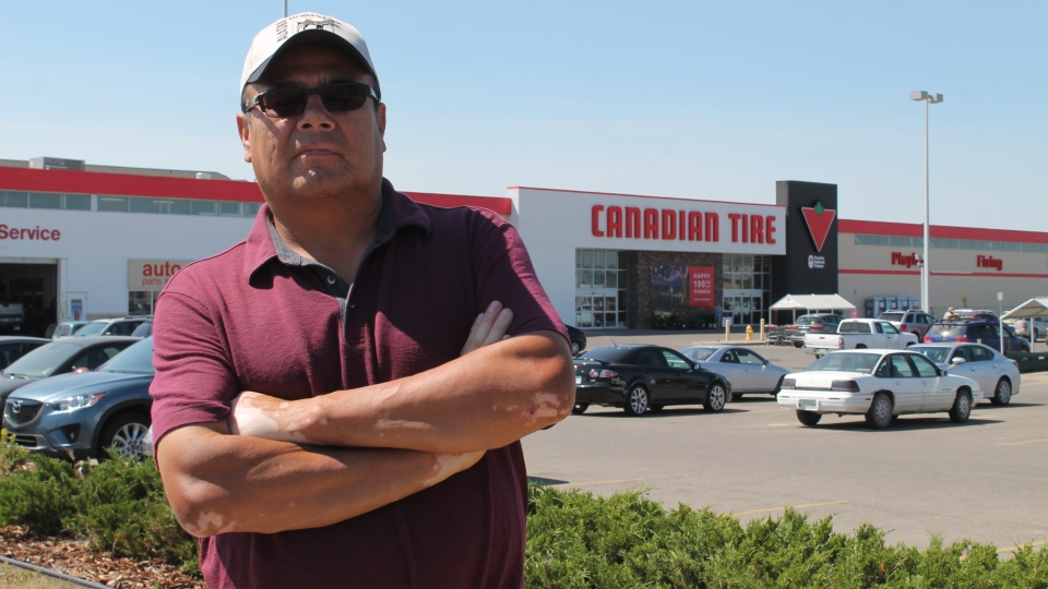 Kamao Cappo is speaking out after staff accused him of stealing at a Canadian Tire store in east Regina. Cappo claims he was discriminated against because he's indigenous.
