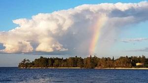 Grand Rapids rainbow. Photo by Keshia Morrisseau.
