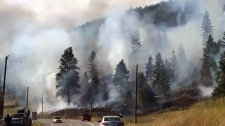 Fast-moving fire forces evacuations near Kamloops