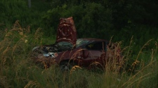 Waterloo regional police were called to a single-vehicle crash in Woolwich Township Thursday evening.