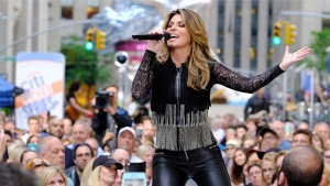 Shania Twain performs on NBC's Today show at Rockefeller Plaza on Friday, June 16, 2017, in New York. (Photo by Charles Sykes/Invision/AP)
