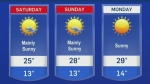 Lots of sun expected this weekend