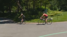 Cyclists and pedestrians will be able to make it across Mount Royal