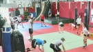 Young athletes get to train with Olympians