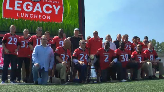 competitive price f74c8 79fa7 Members of Stampeders' 1992 Grey Cup winning team reunite at ...