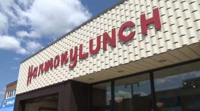 The front facade and sign of Uptown Waterloo's Harmony Lunch ( CTV-Kitchener / Daryl Morris)