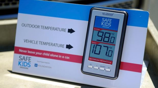 Closed vehicle temperature monitor